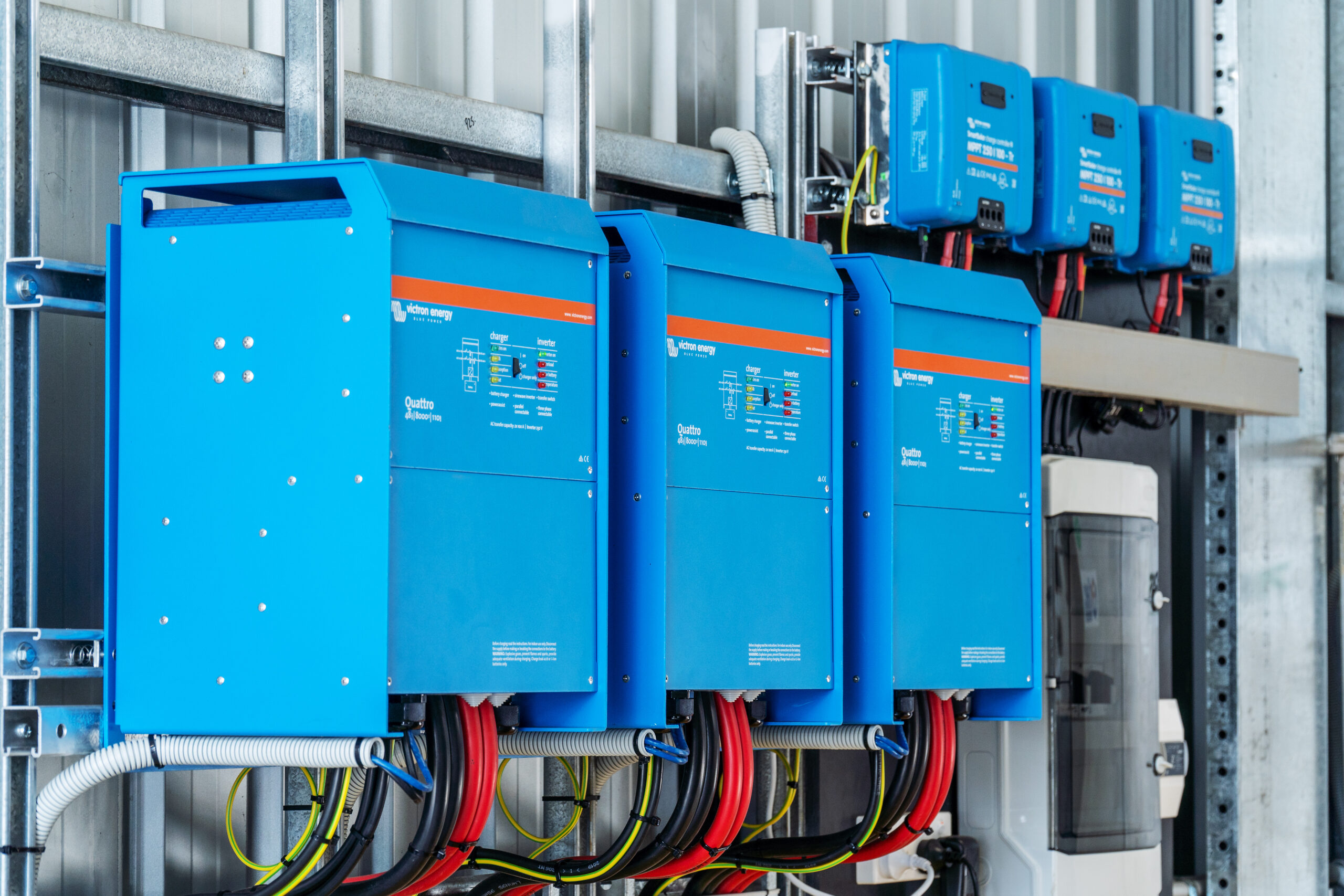 Victron energy quattro inverter/chargers at Kalyakool Farm
