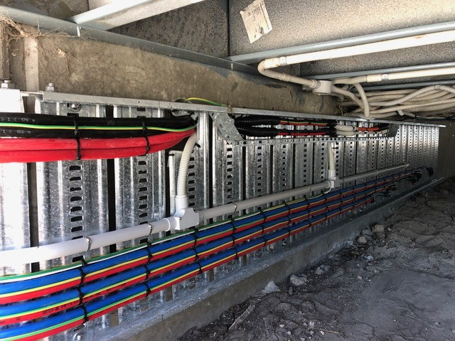 Install of power cabling at Metrocount