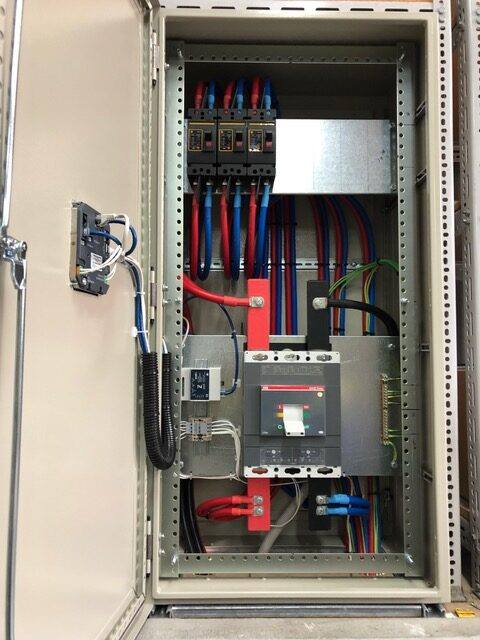 Install of cabling at Metrocount