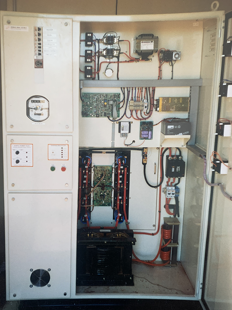 Circuit board inside container